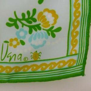 Vintage Vera Neumann scarf 60s 70s flower print